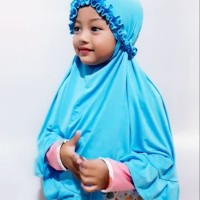 Jilbab Anak Kriwil Jersey Polos Balita Ngaji Kerudung Syar'i