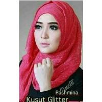 jilbab hijab kerudung pashmina kusut glitter ombre murah termurah