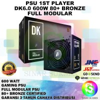 PSU 1ST PLAYER 600 WATT 80 PLUS BRONZE FULL MODULAR MURAH
