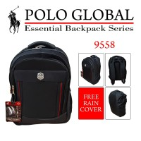 TAS RANSEL / TAS LAPTOP / BACKPACK POLO GLOBAL ORI 9558