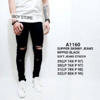 Skinny jeans pria /celana panjang jeans / ripped jeans