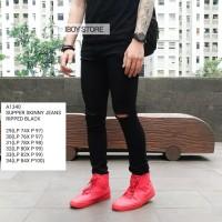 Skinny jeans pria / Celana jeans pria / Ripped jeans A1340