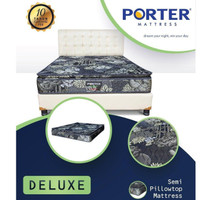 Spring Bed Porter Deluxe Pillow Top 120 x 200 Mattress Only