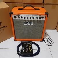 Sound gitar/ampli gitar/amplifier oranye plus kabel jack gitar