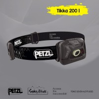 Headlamp Senter kepala petzl Tikka 200 lumens