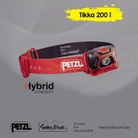 Headlamp Senter kepala petzl Tikka 200 lumens red