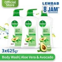 Dettol Sabun Mandi Cair Aloe Vera & Avocado 625g x 3pcs Pump
