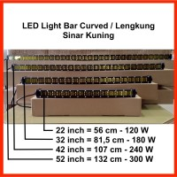 "LED Light Bar Slim 22"" 120W Curved / Lengkung Sinar Kuning"