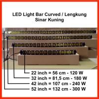 "LED Light Bar Slim 52"" 300W Curved / Lengkung Sinar Kuning"