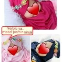jilbab anak bayi kerut tengah mutiara melati