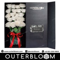 Signature Rose Box Classic Premium - Pure White