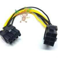 Kabel Power VGA 6 pin female to 8 Pin male PCIE PCI-E