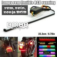 Lampu Rem Led RGB Running 3in1 (Rem, Senja, Sein) Flexible StopLamp