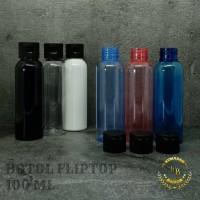 Botol fliptop 100ml varian/botol 100ml/botol plastik 100ml/tutup hitam
