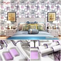Grosir Termurah Wallpaper Sticker pohon kotak ungu 10 M
