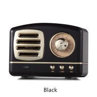 Speaker Wireless Bluetooth Mini Klasik Retro dengan Subwoofer Multimed