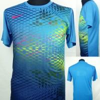 Baju Kaos Sepak Bola/Futsal Dri-Fit Print Dewasa Nike Biru Thurqois