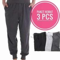 Promo paket hemat 3 pcs .Celana jogger panjang size XL