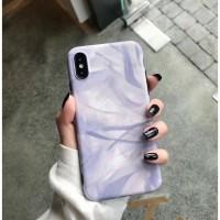 Soft Case iPhone 6/6s/6Plus/7/7Plus/X/Xs/XR/XMax PURPLE MARBLE CASE