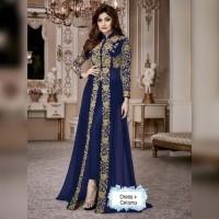 Setelan Baju India Miss Kajol Navy Baju Muslim Pesta Me TERLARIS