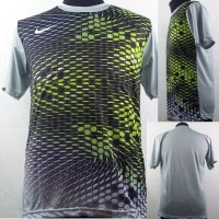 Baju Kaos Sepak Bola/Futsal Dri-Fit Print Dewasa Nike Abu Motif