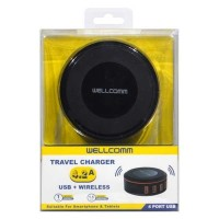 Travel Charger 4.2A 4 Port USB + Wireless Wellcomm