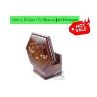Kotak Mahar Perhiasan Cantik | Box Maskawin Seserahan Cincin Jati Ukir