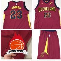 Jersey Stelan Basket NBA Cavs Maroon Lebron James