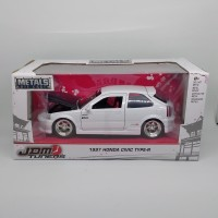 diecast 1997 honda civic type R 1/24 white jada toys