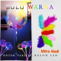 Bulu Warna Variasi for Balon LED