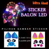 Sticker Tempel Balon LED/LED Balloon Sticker
