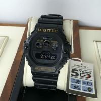Jam Tangan Pria Digitec Original Digital Black Gold WATER RESIST