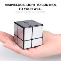 Rubik Mirror 2x2 Qiyi Silver Black Base