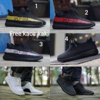 Adidas Yezzy SPLY-350 size 39 - 43 sepatu pria olahraga hitam merah