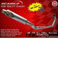 knalpot Scarico Model Bulat untuk motor CBR 150R old & new facelift