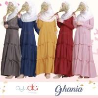 Dress Ghania -Hanya Dress- Gamis Pesta Syari Cantik Casual by Ayudia I