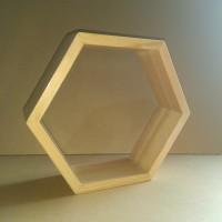 rak dinding hexagon/pajangan dinding/hiasan dinding