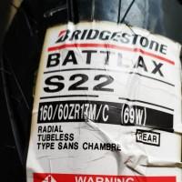 Ban Bridgestone 160/60-17 S22 Belakang Hypersport Rear Tyre Motor