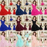 GAUN PESTA NATAL / MINI DRESS / DRESS KEKINIAN / DRESS REMAJA