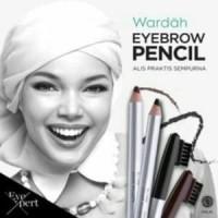 wardah eye brow pencil pensil eyebrow + kuas perapih alis
