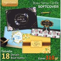 Buku Tamu Pernikahan Sofcover Isi Full Colour