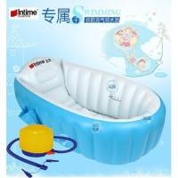 Intime Baby Bath Tub Bak Mandi Bayi + BONUS POMPA Set 2in1 Kolam Bayi