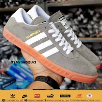 Sepatu Adidas Hamburg Grade Original-Abu Gum