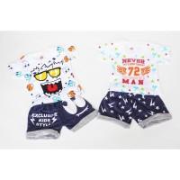 Setelan Baby Atasan Bawahan Kaos Celana Anak Unisex