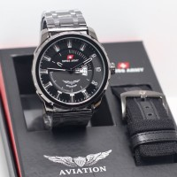 Jam Tangan Pria Swiss Army Aviation Paket