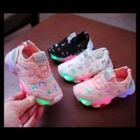 Sepatu Anak Lampu Led Perempuan Colorful Gliter Butterflies (ZH-SS063)