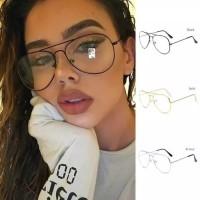 kacamata Aviator vintage unisex lensa minus murah