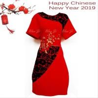Dress Imlek Xincia Dd09 Brukat Import Cheongsam Sincia Baju Imlek