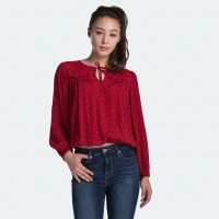 Levi's Keyshia Top Gehu Leopard Smaller Brilliant Red Pri (79625-0002)
