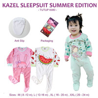 Kazel Sleepsuit Baju Tidur Anak Bayi Tutup Kaki - BELLA SHOP - SUMMER NB